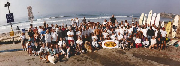 Pacific Beach Surf Club 1996 club photo