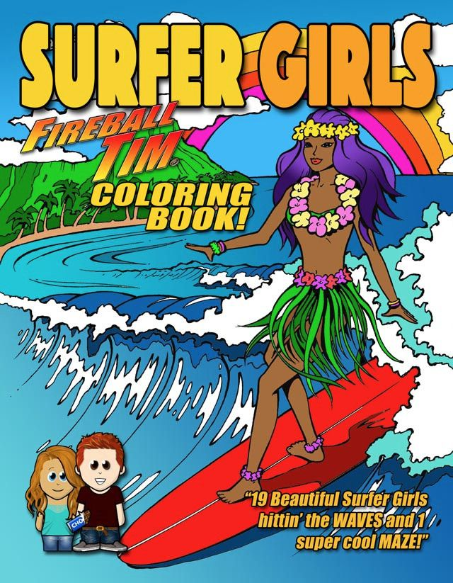 Hey guys- I'm Fireball and new to the club here, but wanted to just to introduce myself as my wife and I do really cool Coloring Books up in Malibu. Yes, we surf too. Just launched SURFER GIRLS yesterday. Check it out when you can on Amazon, but thanks for having me!